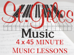 4 x 45 minute music lessons